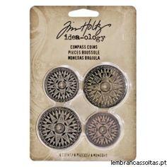 Tim Holtz - Idea-ology - Compass Coins