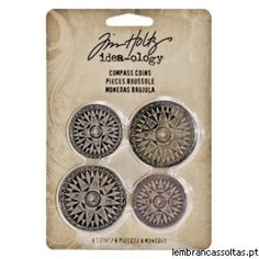 Tim Holtz - Idea-ology - Compass Coins