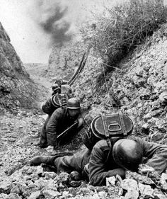 German army hot food carriers try to avoid artillery fire somewhere on the Eastern Front, 1942.