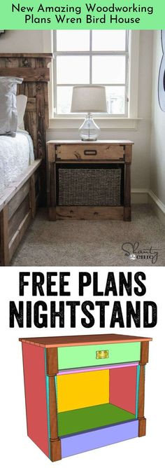 Nightstands Free Woodworking Plans LOVE these nightstands! Free plans and tutorial at ! Free plans and tutorial at ! Building Furniture, Diy Furniture Projects, Woodworking Furniture, Home Projects, Woodworking Plans, Woodworking Projects, Popular Woodworking, Woodworking Magazine, Woodworking Videos