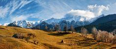 Bucegi Mountains seen from Balaban Peak, Brasov, Romania (by Eduard Gutescu)