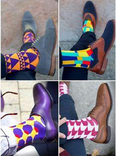 Image may contain: shoes Crisp White Shirt, White Shirts, Men Dress, Dress Shoes, Colorful Socks, Happy Socks, Sharp Dressed Man, Haberdashery, Sock Shoes