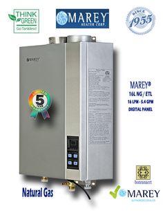 Marey GA16NGETL 5.4 GPM Natural Gas Water Heater