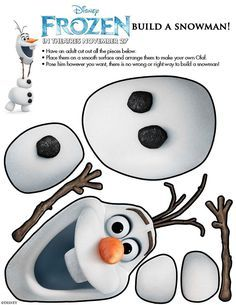 Disney's FROZEN Free Printable Activity and Coloring Sheets New! Disney's FROZEN Free Printable Activity and Coloring Sheets,New! Disney's FROZEN Free Printable Activity and Coloring Sheets, A Party Inspired by Olaf Build a Snowman (Party Activity) Frozen Birthday Party Games, Frozen Birthday Decorations, Birthday Diy, Carnival Birthday, Olaf Party, Snowman Party, Birthday Ideas, Birthday Parties, Birthday Cake