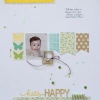 Hello Happy by michellerose from our Scrapbooking Gallery originally submitted 04/26/13 at 09:40 AM