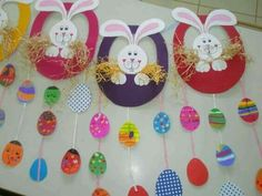 Searching for easy and innovative ideas for Easter crafts for kids? Check out some really fun Easter craft ideas for preschoolers. Easy Easter Crafts, Easter Projects, Easter Art, Bunny Crafts, Easter Crafts For Kids, Easter Bunny, Easy Crafts, Diy And Crafts, Easter Activities