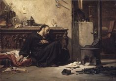Elihu Vedder (1836-1923), The Dead Alchemist. [Yes, he's related to Eddie Vedder, but only distantly.]