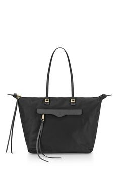 6cac7f0217e1 Nylon East West M.A.B. Tote - Crafted from lightweight nylon and finished  with saffiano leather