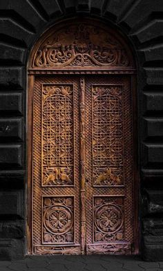 Yerevan, Armenia - ornate carved door (photo by Hermine Makaryan)