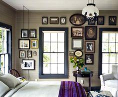 dark neutral walls, dark / black trim, old / antique photos Alec Hemeragain - desire to inspire - desiretoinspire.net
