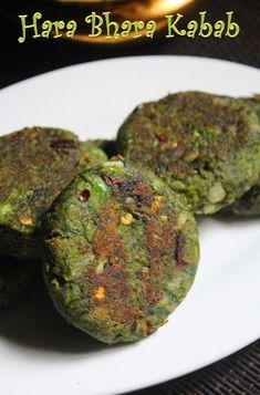 YUMMY TUMMY: Hara Bhara Kabab Recipe - Spinach and Peas Kebab Recipe