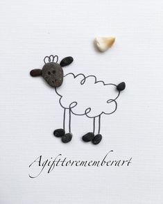 Another handmade pebble card. Funny sheep 🐑 #agifttorememberart #pebbleart #nature #instaart #instagood #instaphoto #photooftheday #artoftheday #art #etsy #handmadecards #handmade #australia #makersgonnamake #adelaide #gift #sheep #animals #farm #beach #roomdecor #giftshop
