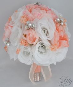 Hey, I found this really awesome Etsy listing at https://www.etsy.com/listing/175018949/wedding-bridal-bouquet-silk-flowers