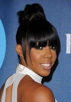 Kelly Rowland UPDO hair styles for Black Women