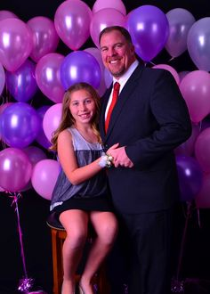 simple backdrop, father/daughter formal