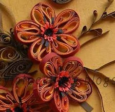 A Journey into Quilling & Paper Crafting: Flowers & Twigs - New Quilling Technique Tutorial