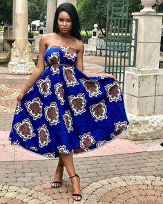 African dress: Beautiful and most Stylish African Ankara Dresses - Dabonke : Nigeria Latest Gist and Fashion 2019 Latest Ankara Gown, Ankara Gown Styles, Beautiful Ankara Styles, Trendy Ankara Styles, Ankara Skirt And Blouse, Ankara Dress, African Fashion Ankara, African Dress, Ankara Clothing