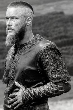 VIKINGS From the look, this may be Ragnar after the spear slices his belly open. I'm going to stay with that story because it means he lives. Of course he lives, Vikings, the show, wouldn't be the same without him.