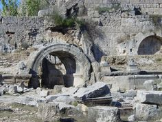 TURKEY, Aksu: Ruins of Perge, ancient Greek city in Anatolia and the capital of Pamphylia, now in Antalya province