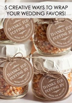 5 Creative Ways to Wrap Your Wedding Favors!