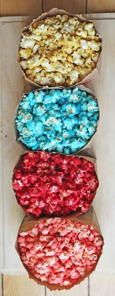 Cinnamon Red Hots, Bubble Gum and Root Beer Barrel! Sugar Popcorn, Cinnamon Popcorn, Blue Popcorn, Popcorn Snacks, Candy Popcorn, Popcorn Balls, Flavored Popcorn, Jello Popcorn, Gourmet Popcorn