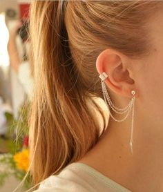 Trendy Leaf Earring with Ear cuff. Starting at $2