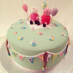 Peppa Pig & Suzy Sheep Birthday Cake