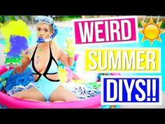 WEIRD SUMMER DIYS TESTED!!! Alisha Marie - YouTube