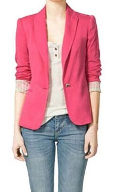 Casual Blazer-Pink