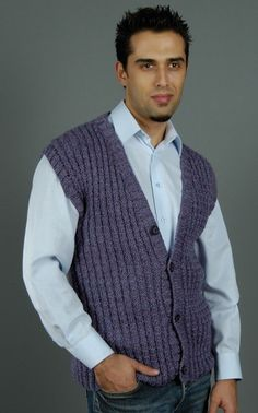 Free Knitting Pattern - Men's Vests: Charley Vest