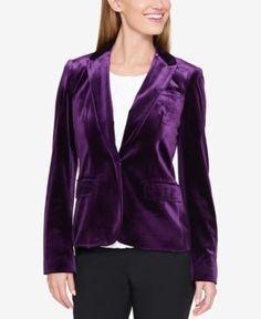 2c8e15bbf9b1 Tommy Hilfiger Velvet Blazer - Purple 14 Velvet Blazer