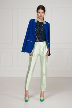 Matthew Williamson Resort 2013.   This has to be one of my favourite collections this season. I love the cobalt blue and mint combination.