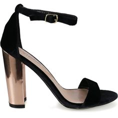 ac3b8bb3d1 Devie-04 Black Single Sole Retro Metallic Block Chunky Heel ( 1) ❤ liked