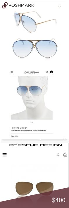 55bb21d35e1a Shop Women s Porsche Design size OS Sunglasses at a discounted price at  Poshmark. Description  Authentic porsche sunglasses with snap in blue  lenses ...