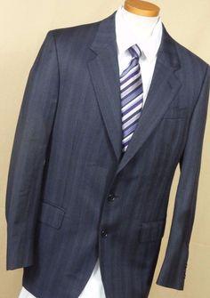 Sergio Marcello Men's Multi-Color Rope Pattern Wool 2 Button Suit Size 40L #SergioMarcello #TwoButton