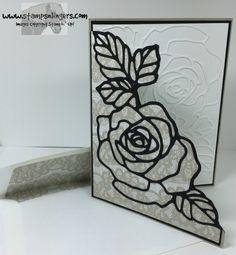 Stamps-N-Lingers. Rose Garden Thinlits, Rose Wonder sentiment inside. Timeless Elegance DSP. http://stampsnlingers.com/2016/04/07/stampin-up-rose-garden-wonder-for-the-happy-stampers-blog-hop/
