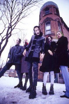 Ginger Fish, Madonna Wayne Gacy, Marilyn Manson, Twiggy Ramirez and Daisy Berkowitz