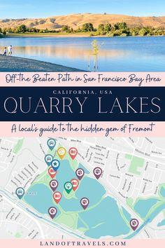 Looking for an off-the-beaten-path, family-friendly, budget-friendly way to spend a beautiful day outdoors in the San Francisco Bay Area? Consider visiting Quarry Lakes Recreational Park in Fremont California highlighted in this travel guide that takes you on a journey to one of the most peaceful corners in the bustling tri-city region of Bay Area. #quarrylakes #fremont #california #bayarea #usa #travel #sanfrancisco #sfdaytrip #hiking #biking #adventure #landoftravels Fremont California, California Travel, Quarry Lake, United States Travel, Travel Guides, Travel Tips, Travel Around The World, Travel Usa, Family Travel