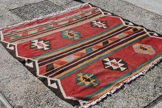 5' x 5' // Contemporary Hand Woven Square Antique Area Rug //