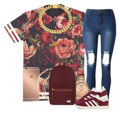 """Sem título #2180"" by isabellacarolina161 ❤ liked on Polyvore featuring GUESS, adidas Originals, Eklexic, Mura and Herschel Supply Co."