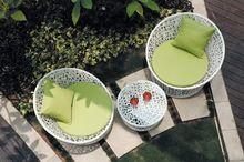 Rodada jardim wicker cadeira de vime SG1011