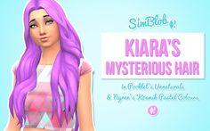 SimBlob: Kiara's Mysterious hairstyle retextured  - Sims 4 Hairs - http://sims4hairs.com/simblob-kiaras-mysterious-hairstyle-retextured/