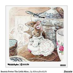 Beatrix Potter The Little Mice Came Out Again Wall Graphic