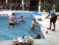 Pool party! Mariachis, Guatemala, Fishing Lodge, Sailfish, Marlin, Cold Drinks,