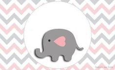 Baby Elephant in Grey and Pink Chevron: Free Printable Invitations and Free Printable Candy Bar Labels. Free Printable Invitations, Free Printables, Polymer Clay Elephant, Chevron Rosa, Candy Bar Labels, Baby Shower Niño, Cute Elephant, Art Girl, Baby Room