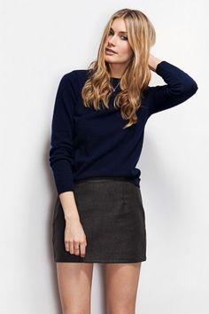 Reserved for Shannon- Plaid wool mini skirt. Yellow and grey. Fall ...