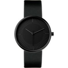 Gravity Black by Simpl Watch Black-on-black ❤ liked on Polyvore featuring jewelry, watches, accessories, unisex jewelry and unisex watches