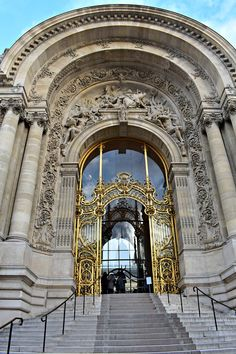 Beautiful gilded entrance to Petite Palais in Paris, France
