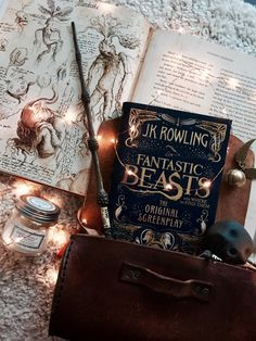 Harry Potter Fantastic Beasts by J.K Rowling Harry Potter World, Magie Harry Potter, Objet Harry Potter, Mundo Harry Potter, Harry Potter Love, Harry Potter Books, Pic Tumblr, Jk Rowling Fantastic Beasts, Fantastic Beasts Book