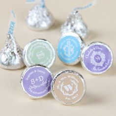 Our Hershey's chocolate collection takes the traditional Hershey's chocolate of your choice and wraps it up in a beautiful personalized wrapper for a wonderful wedding favor, bridal shower favor or party favor.  A delicious favor your guests will love!